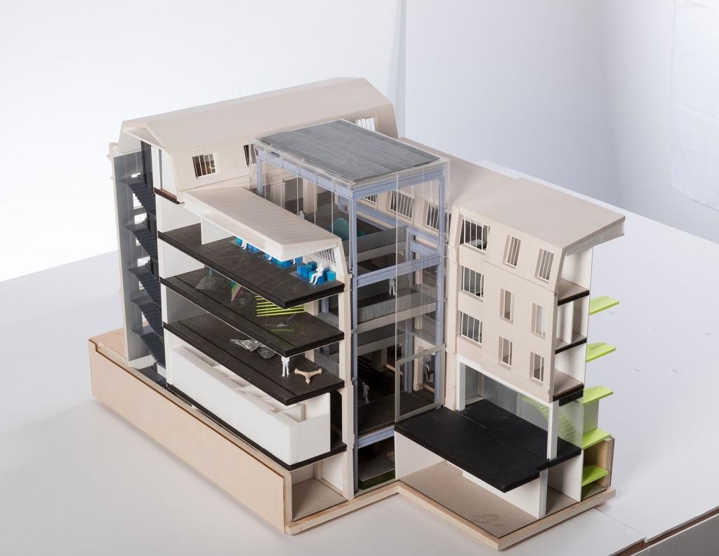 Maquette de la Fondation des Galeries Lafayette, réalisée par OMA, l'agence de Rem Koolhaas