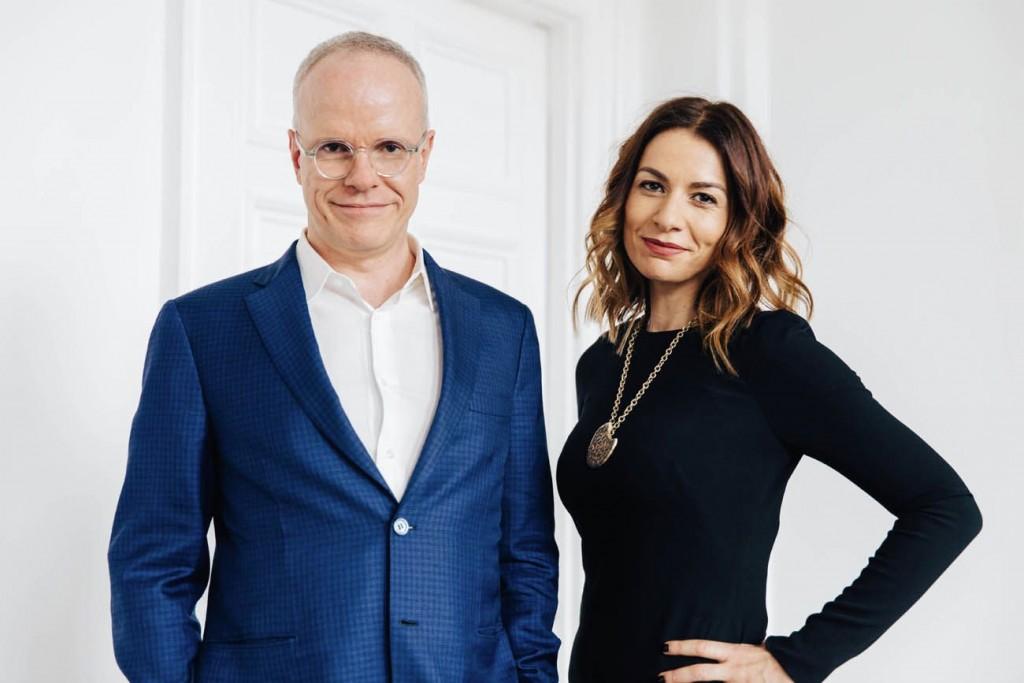 Hans Ulrich Obrist and Yana Peel