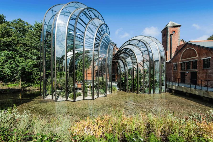 bombay saphir - Serres alambiquées à Laverstoke Mill