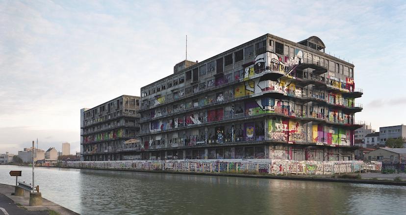 graff - Tatouages architecturaux aux magasins généraux