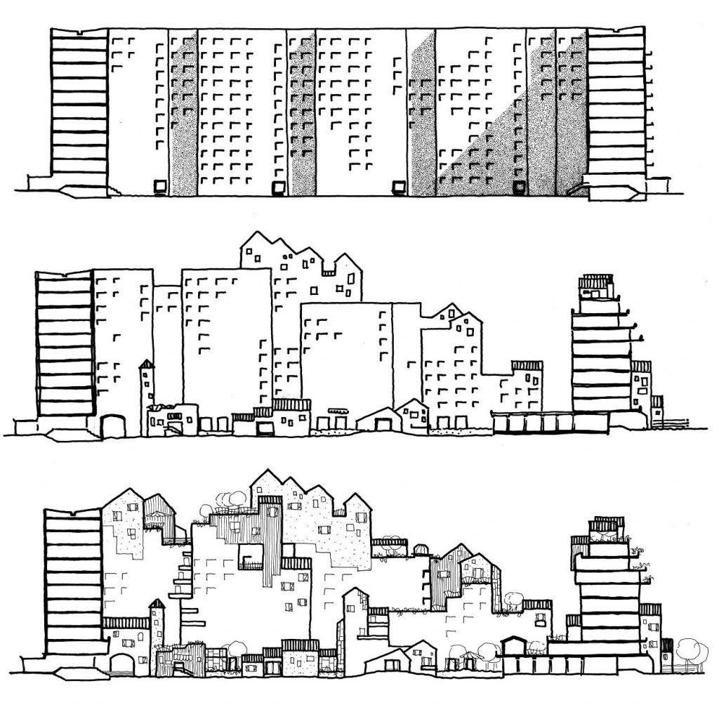 4 Enfin chez soi… Réhabilitation de préfabriqués Berlin Hellersdorf Allemagne 1994 compressed 1024x1014 - Simone et Lucien Kroll : Tout est paysage, une architecture habitée