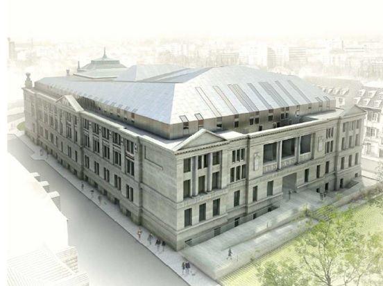 VueArchi2 compressed - Le Palais de Justice de Strasbourg en chantier
