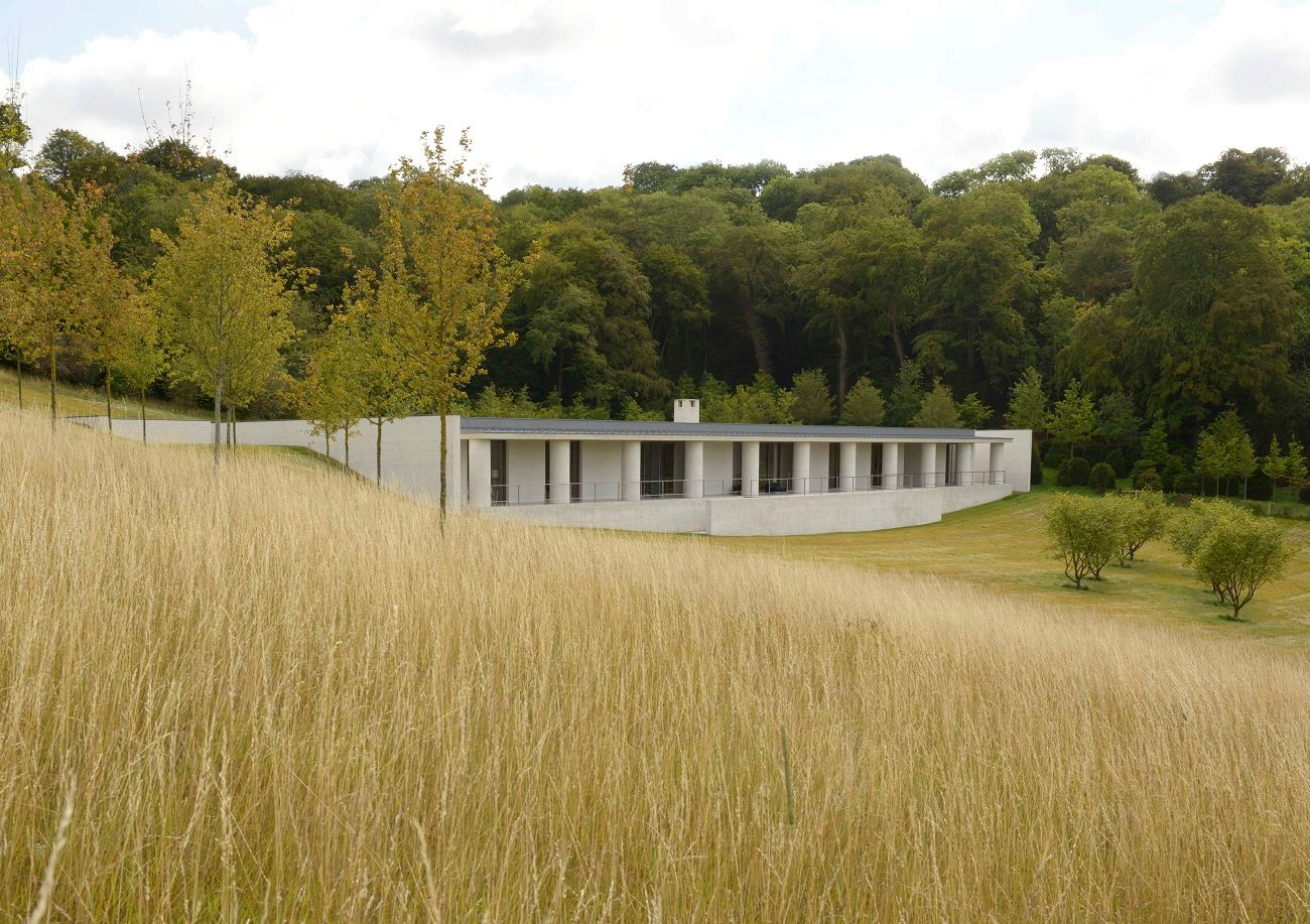 Fayland House David Chipperfield Angleterre - Fayland House : un trait sur la colline