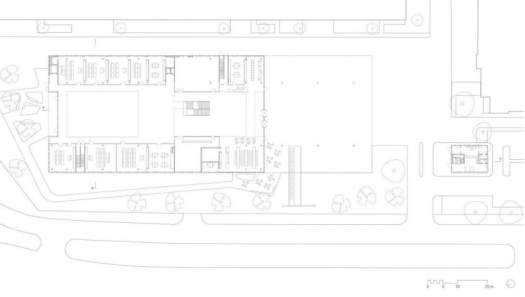HagerForum Plan GroundFloor ©SauerbruchHutton compressed 1024x580 - Le Hager Forum étonne par son gigantisme