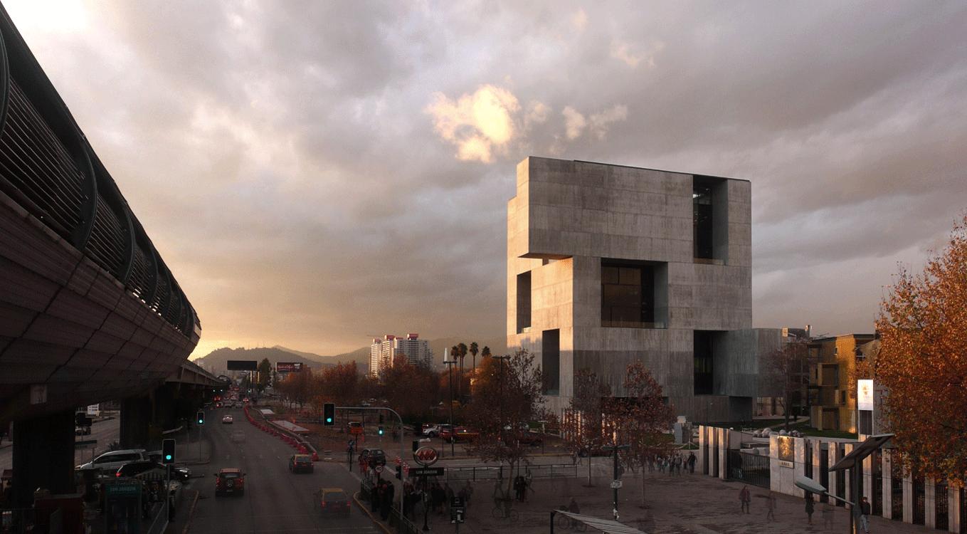 Beton Monolithe Santiago Crepuscule ©Nina Vidic - Un monolithe au coeur de verre