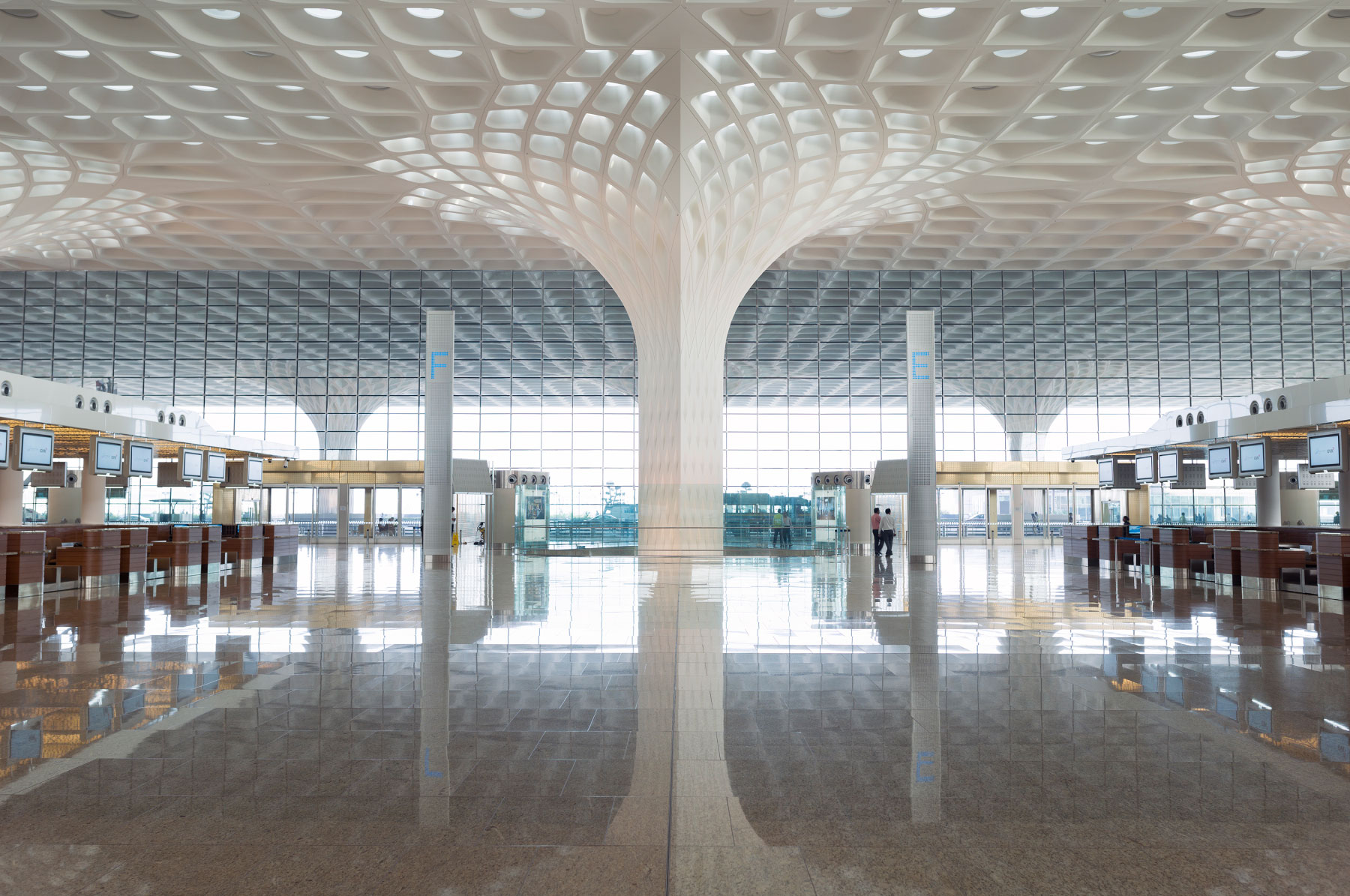 Canopee lumiere aeroport Chhatrapati Shivaji - Aéroport international Chhatrapati Shivaji : Canopée de lumière