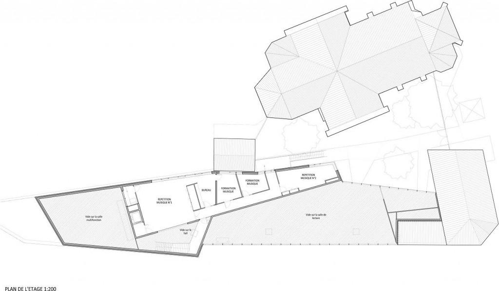 WONK MEURCHIN Plan Etage 1 200 1024x597 - A site insolite, Wonk répond architecture atypique