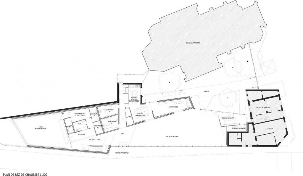 WONK MEURCHIN Plan RDC 1 200 1024x596 - A site insolite, Wonk répond architecture atypique