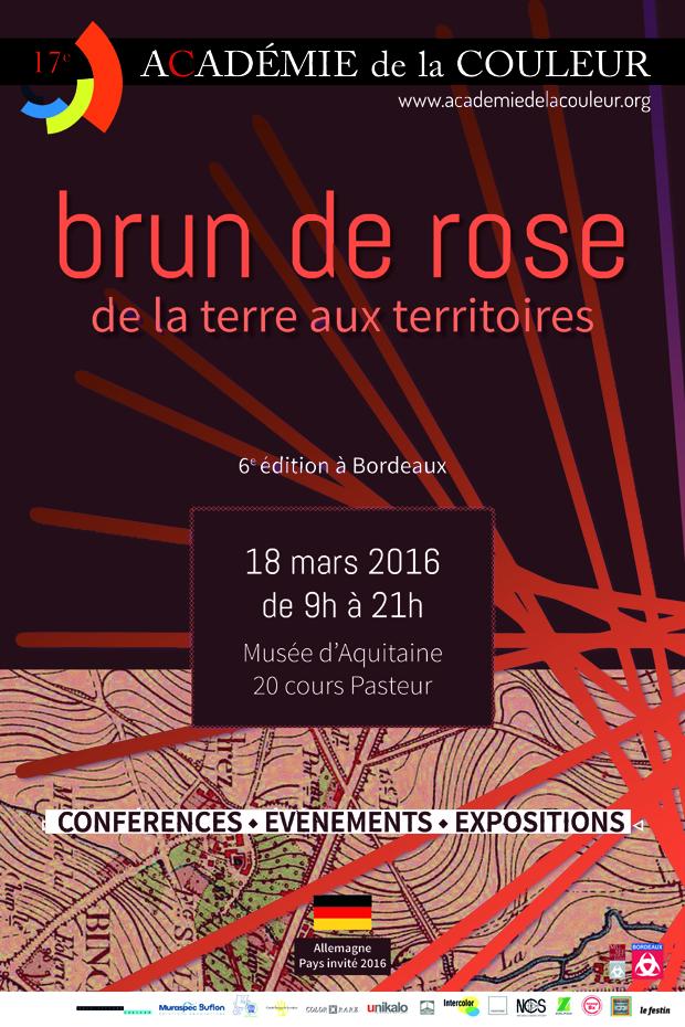 visuel Acade╠ümie de la couleur 2016 - Le Brun de Rose: de la terre aux territoires