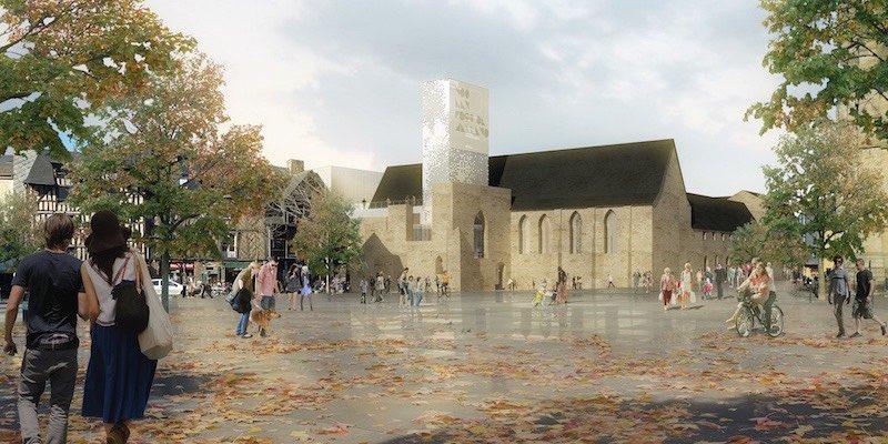 Le futur centre des congrès de Rennes. © Guervilly