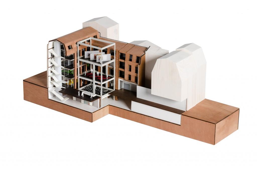 maquette OMA fondation galeries lafayette 2 1024x678 - BIG va aménager les Galeries Lafayette des Champs-Elysées