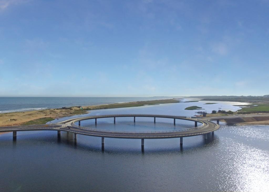 pont circulaire uruguay 5 1024x731 - Un étonnant pont circulaire, conçu par Rafael Viñoly