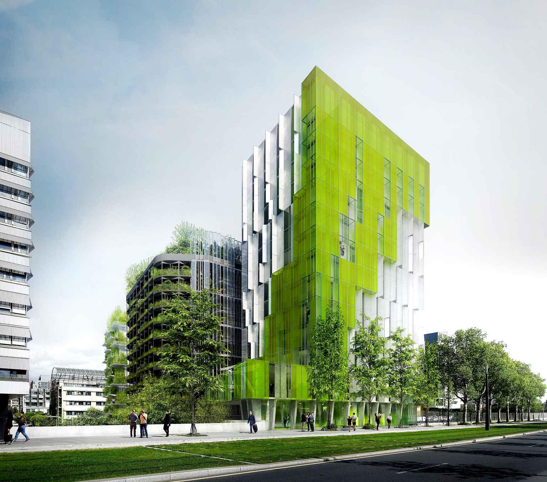 """Projet """"In Vivo"""", Paris 13e. XTU Architects"""