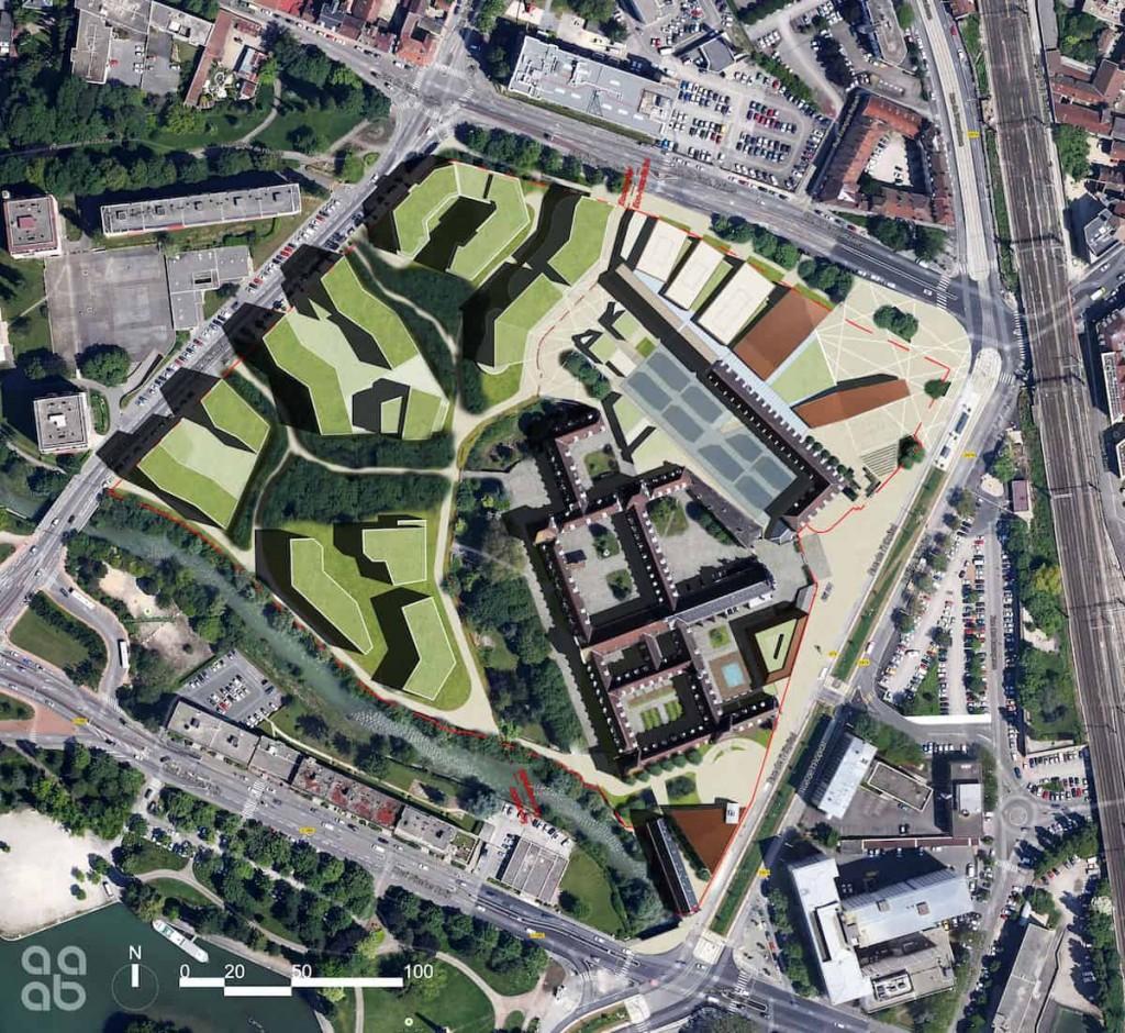 Plan masse min 1024x940 - Dijon : la future Cité internationale de la Gastronomie et du Vin