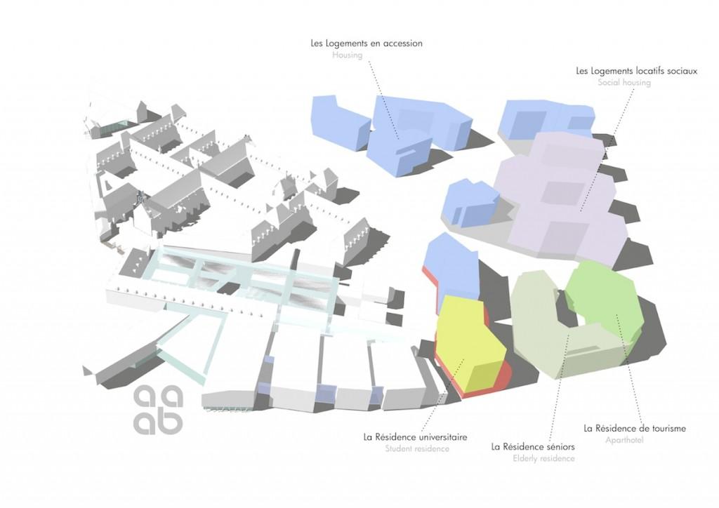 Programme ecoquartier legende 1024x724 - Dijon : la future Cité internationale de la Gastronomie et du Vin