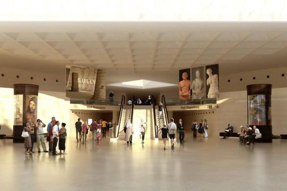 Hall Napoléon libéré de sa banque dinformation signalétique projet c Agence Search compressed 585x390 - Chantier Pyramide : 12 pour 1