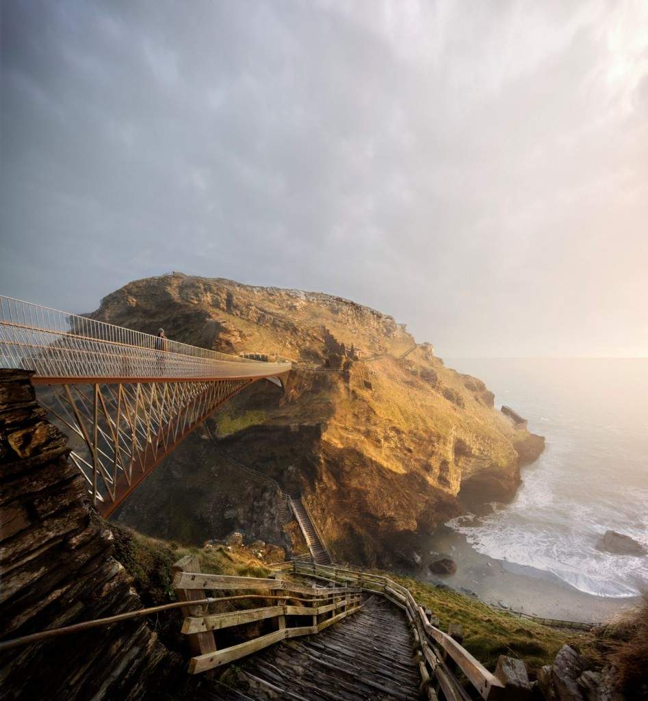 NeyPartners WilliamMatthews Tintagel Bridge VIEW 03 compressed 947x1024 - La légendaire passerelle de Tintagel