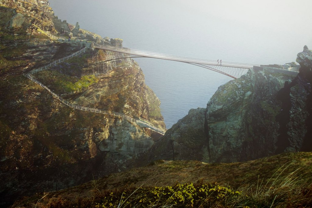 NeyPartners WilliamMatthews Tintagel Bridge VIEW 04 compressed 1024x682 - La légendaire passerelle de Tintagel