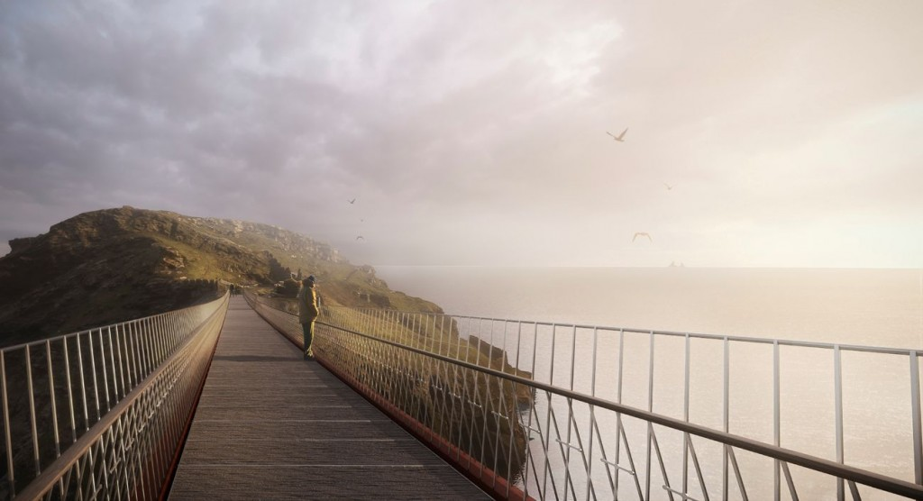 NeyPartners WilliamMatthews Tintagel Bridge VIEW 06 compressed 1024x556 - La légendaire passerelle de Tintagel