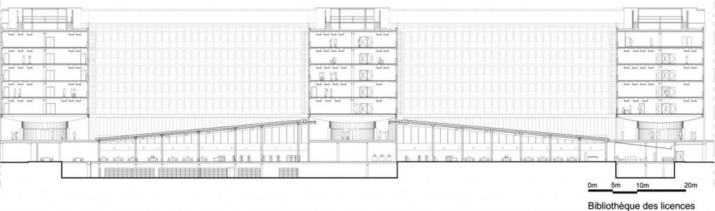 PAJUS5 coupe BIBLIOTHEQUE ∏Architecture Studio compressed 1024x302 - 2/2 : Parachèvement de la rénovation du campus de Jussieu