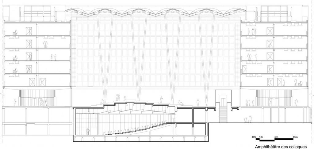 PAJUS5 coupe amphitheatre colloques∏Architecture Studio compressed 1024x488 - 2/2 : Parachèvement de la rénovation du campus de Jussieu