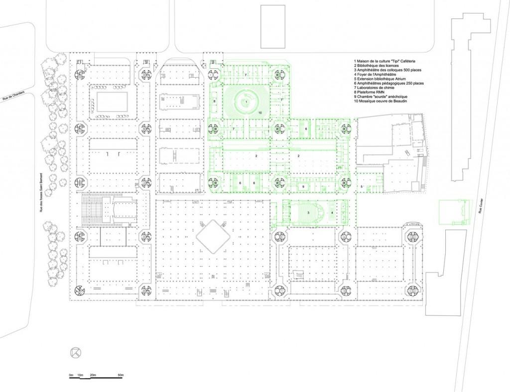 campus jussieu par architecture studio plan R+1