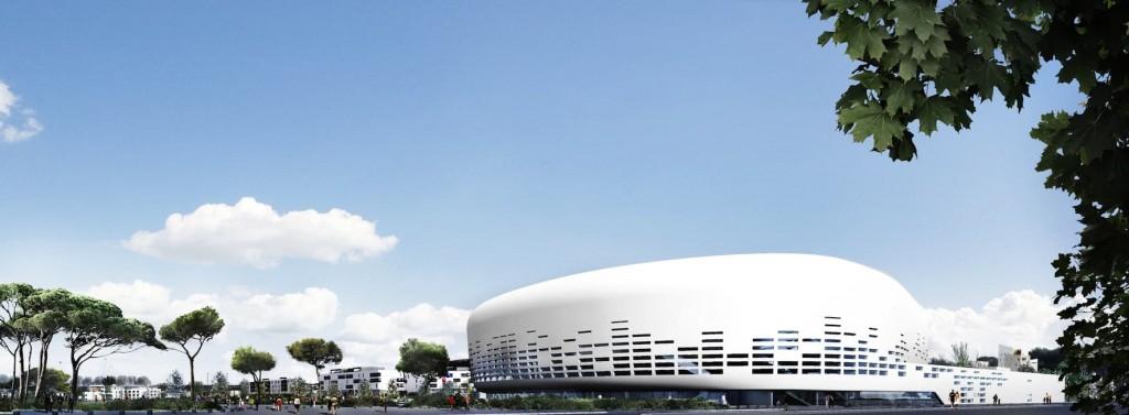 PARVIS AVENUE ALFONSEA©Lagardere Unlimited Agence Rudy Ricciotti 1024x377 - Chantier du Bordeaux Métropole Arena, signé Rudy Ricciotti