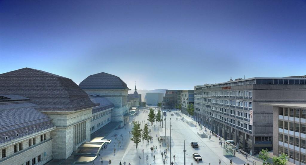 Place vue aerienne compressed 1024x554 - TVK remporte le réaménagement de la Place de la Gare