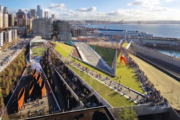 Seattle Art Museum Olympic Sculpture Park par WeissManfredi compressed 585x390 - Passages, espaces de transition pour la ville du XXIe siècle