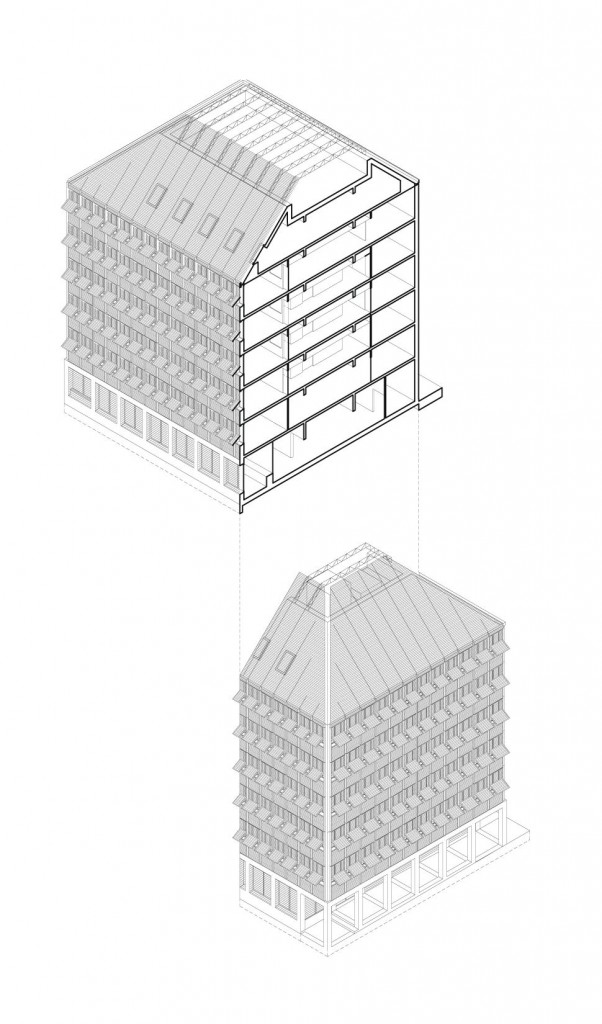 axo 1 compressed 602x1024 - Gilles Perraudin : au-delà de la pierre, le bois