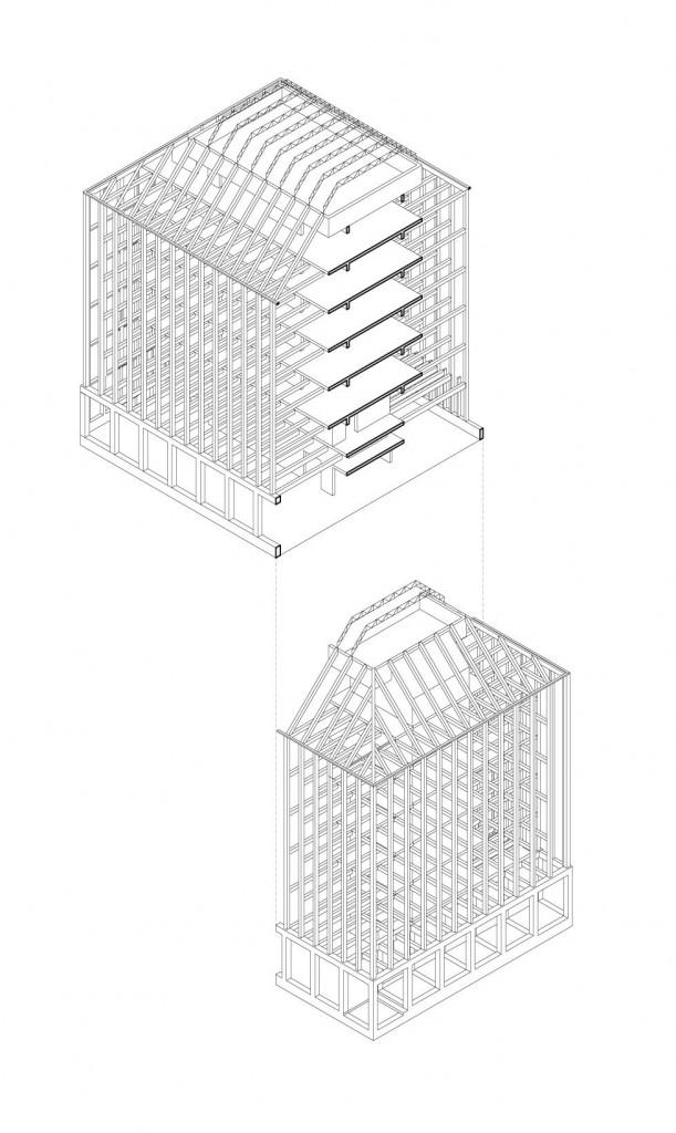 axo 2 compressed 611x1024 - Gilles Perraudin : au-delà de la pierre, le bois