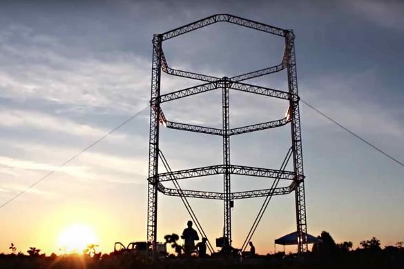 Imprimante 3D de 12 m de haut 585x390 - Construction d'un village écologique… avec une imprimante 3D