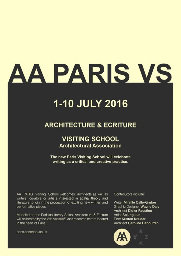 AA PARIS Visiting Shool poster copie compressed 725x1024 - Architecture & Ecriture