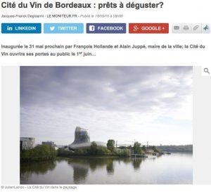 lemoniteur compressed 300x273 - Décantation de la Cité du Vin : la revue de presse du 7 juin 2016