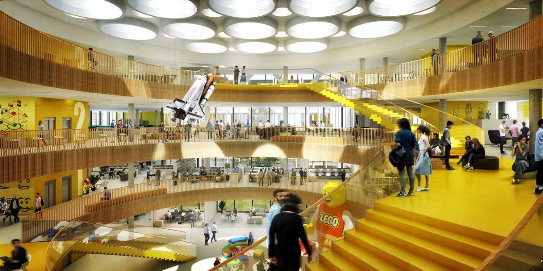 16020 101 Atrium View compressed 1170x585 - Le futur siège Lego aux couleurs de la firme