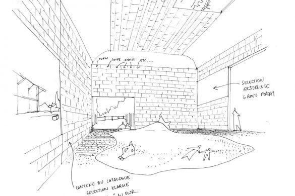 Croquis de la salle Le Terreau Obras Frederic Bonnet Ajap14 585x390 - Prologue : Voir la France à Venise