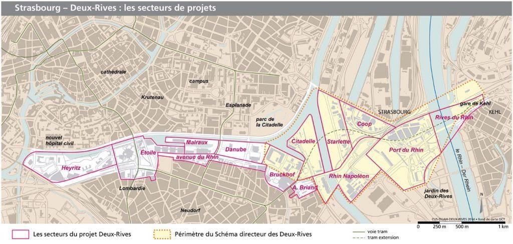 Deux Rives périmètre plan masse compressed 1 1024x488 - Strasbourg, d'une rive à l'autre