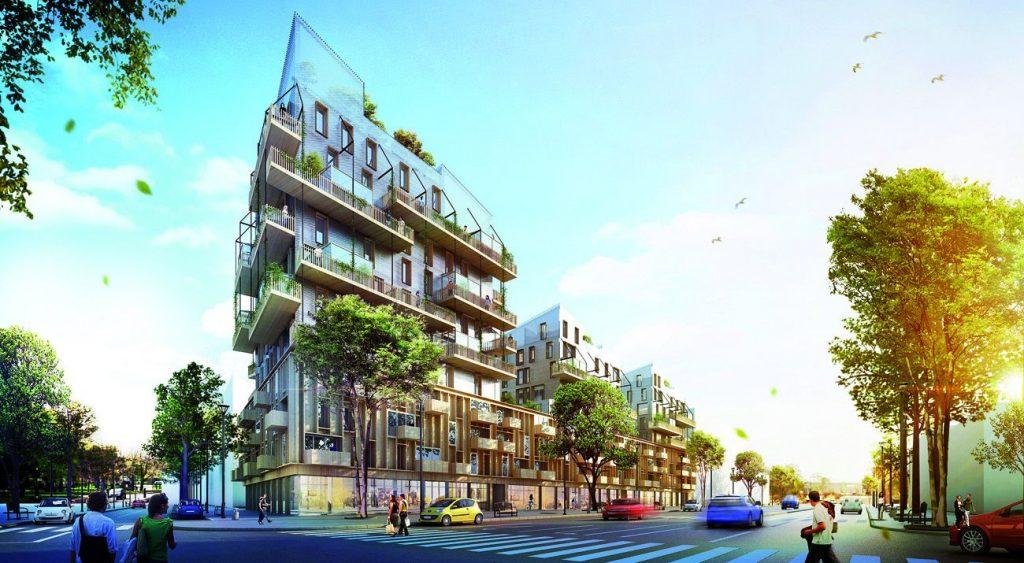 Îlot BOIS© KOZ Architectes Bouygues Immobilier lot 2 ilot bois biosourcé compressed 1 1024x563 - Strasbourg, d'une rive à l'autre