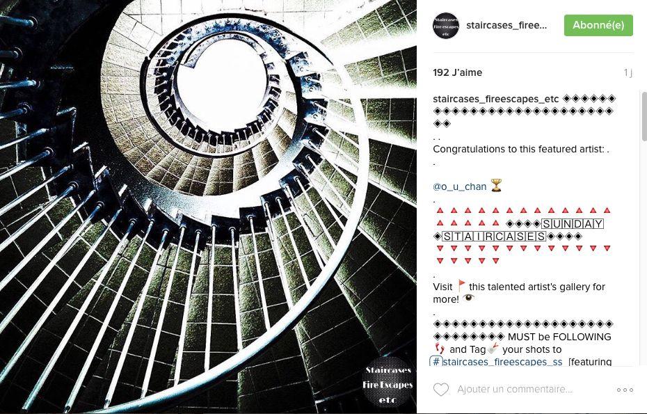 staircases fireescapes etc - Instagram, des images pour architectes en vacances.