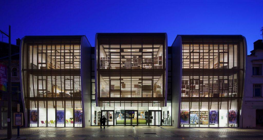 x09 vue de nuit ARCAME CALAIS ECOLEd ART compressed 1024x544 - Calais : l'école d'art au secours du centre-ville