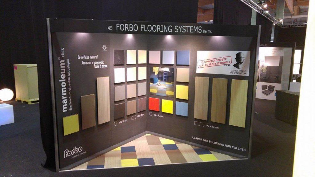 Forbo stand 1024x576 - Marmoleum click : des possibilités infinies de conception !