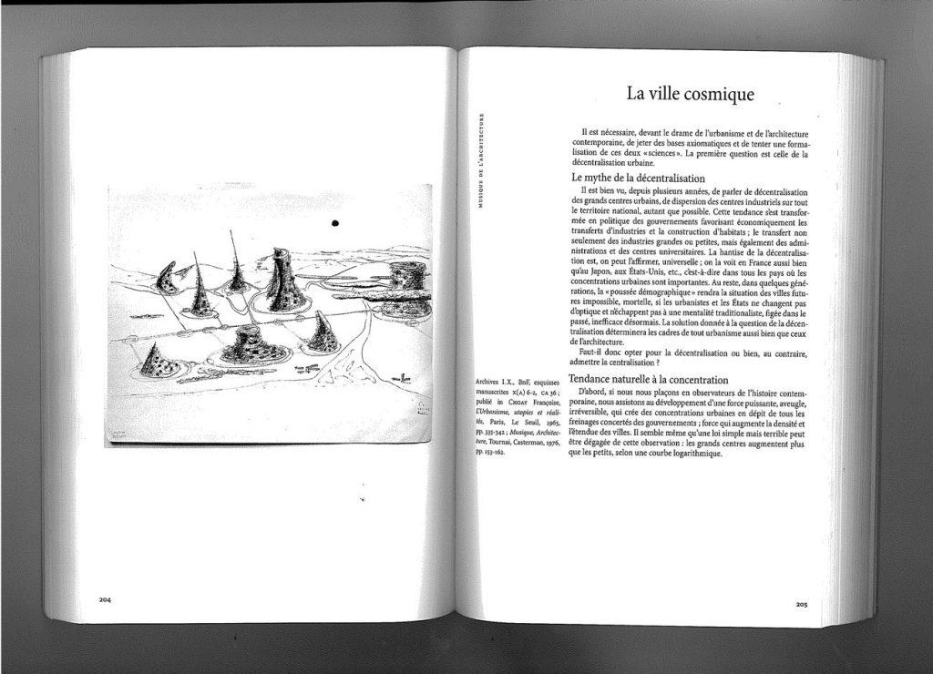xenakis ville cosmique 1024x740 - Iannis Xenakis, de la spatialisation de la musique à la musicalisation de l'espace