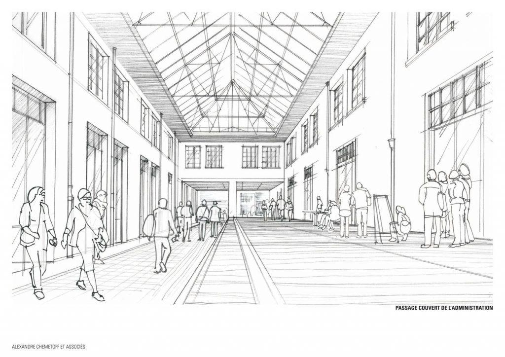 COOP Passage couvert projete 1024x724 - Réhabilitation de la COOP, un antidote au projet urbain ?