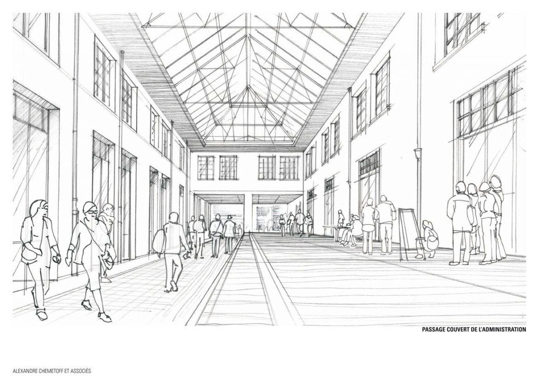 COOP Passage couvert projete 1170x827 - Réhabilitation de la COOP, un antidote au projet urbain ?