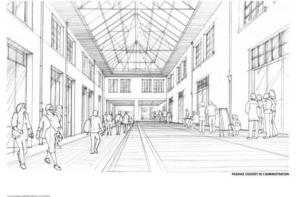 COOP Passage couvert projete 585x390 - Réhabilitation de la COOP, un antidote au projet urbain ?