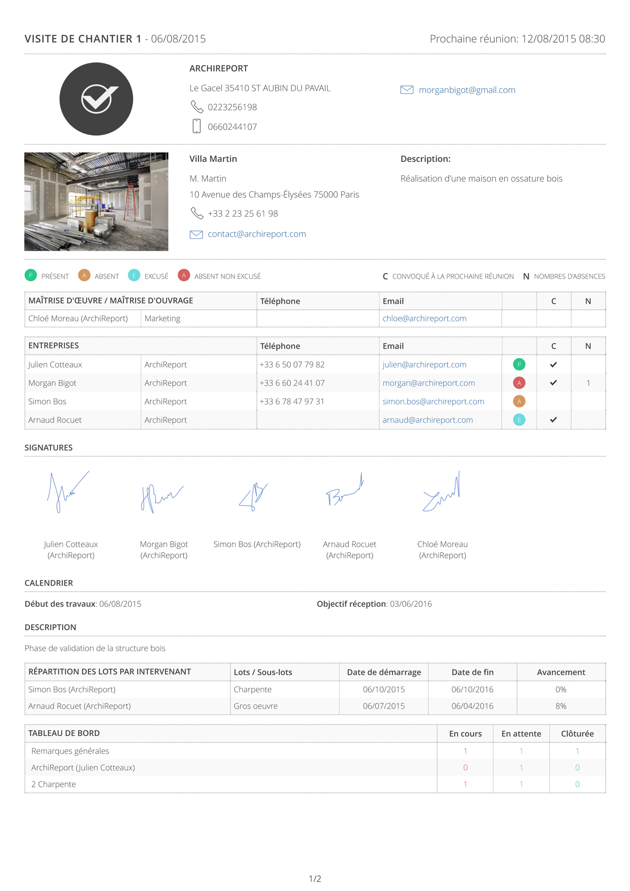 archireport l 39 application de suivi de chantier