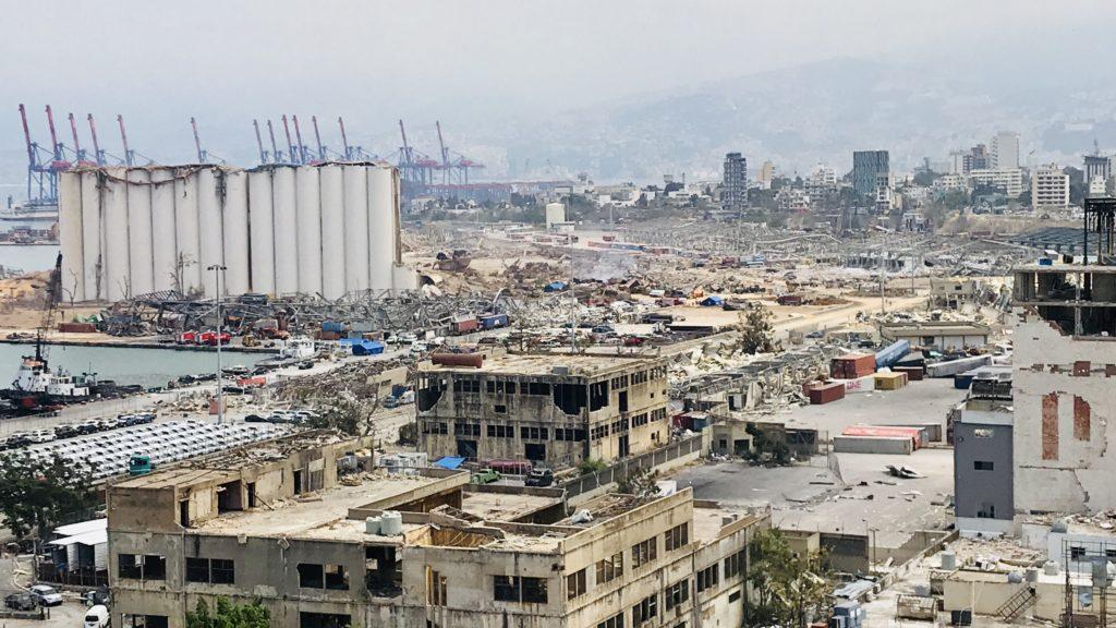 Beyrouth dévastée par l'explosion du port le 4 août 2020 © Lina Ghotmeh