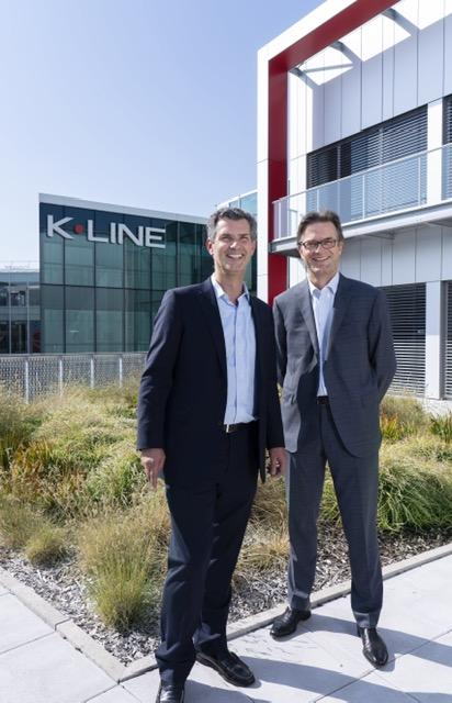Olivier de Longeaux (à gauche), nommé au poste de DG de K-Line par Bruno Léger (à droite)