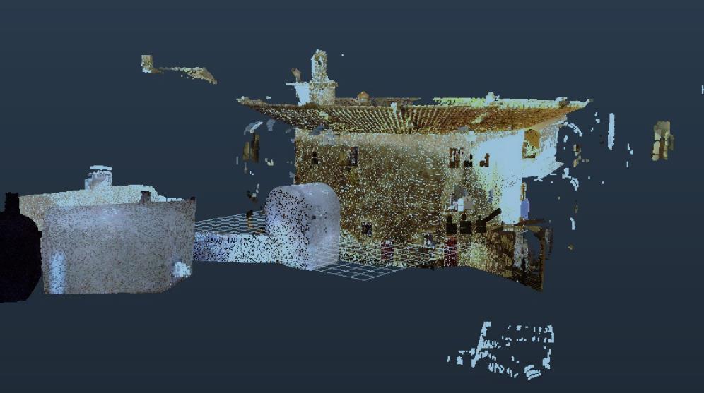 Le modèle a été réalisé en appliquant le processus du nuage de points, effectué à partir des données issues du scanner 3D.