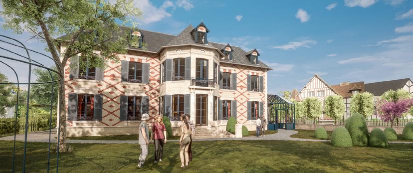 La maquette évolutive de la villa permet de jouer avec la lumière : les matériaux réagissent à la lumière des saisons et aux ombres de la journée.